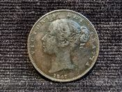 Victoria, Young Head Farthing 1847, F, AD314